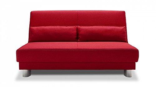 schlafsofa faltbeschlag rot 160cm g nstig m bel24. Black Bedroom Furniture Sets. Home Design Ideas