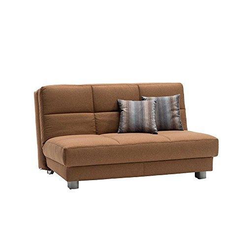 schlafsofa in braun stoff breite 160 cm sitzpltze 3 sitzpltze pharao24 0 m bel24. Black Bedroom Furniture Sets. Home Design Ideas