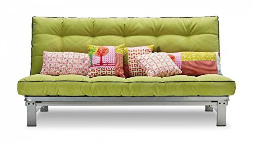 m bel24 m bel g nstig schlafsofa limonengr n stoff metallgestell couch liege bett g nstig. Black Bedroom Furniture Sets. Home Design Ideas