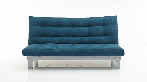 Schlafsofa petrol stoff couch liege bett g nstig m bel24 for Schlafsofa bett