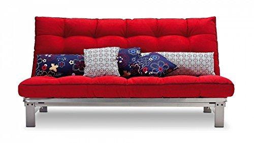 schlafsofa rot stoff couch liege bett g nstig m bel24. Black Bedroom Furniture Sets. Home Design Ideas