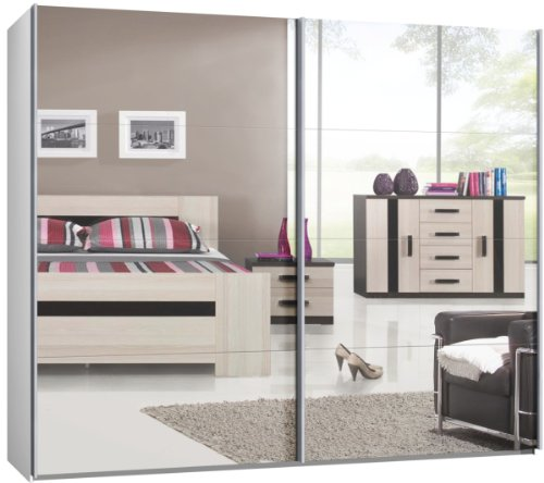 schwebet renschrank schiebet renschrank ca 270 cm spiegel kleiderschrank m bel24. Black Bedroom Furniture Sets. Home Design Ideas