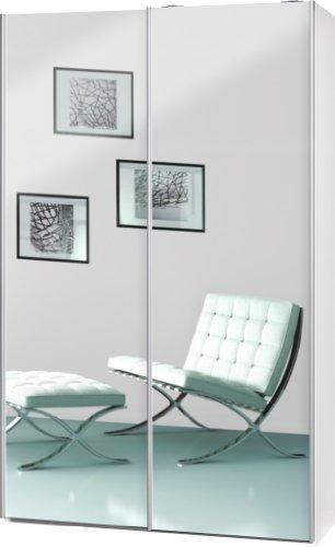 schwebet renschrank soft plus smart typ 40 120 x 194 x 42cm wei 2 x spiegel m bel24. Black Bedroom Furniture Sets. Home Design Ideas