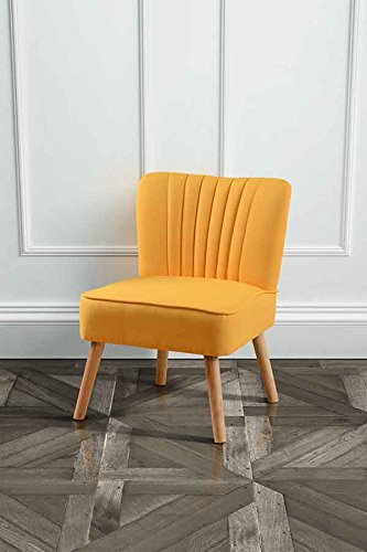 My furniture lola hochwertiger gepolsterter retro sessel for Design stuhl orange