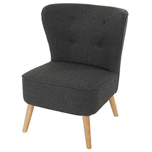 mendler sessel malm t313 loungesessel polstersessel retro 50er jahre design anthrazit. Black Bedroom Furniture Sets. Home Design Ideas