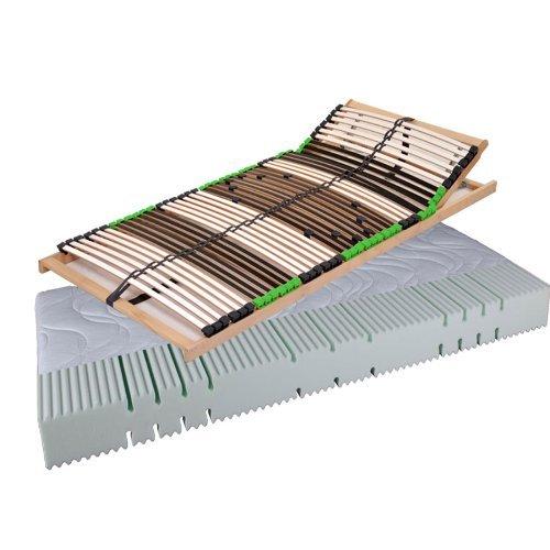 """""""Set Angebot Balance"""" Matratze Komfortschaummatratze AIR Balance H2 und 7 Zonen Lattenrost DaMi Balance Kopf (120 x 200 cm)"""
