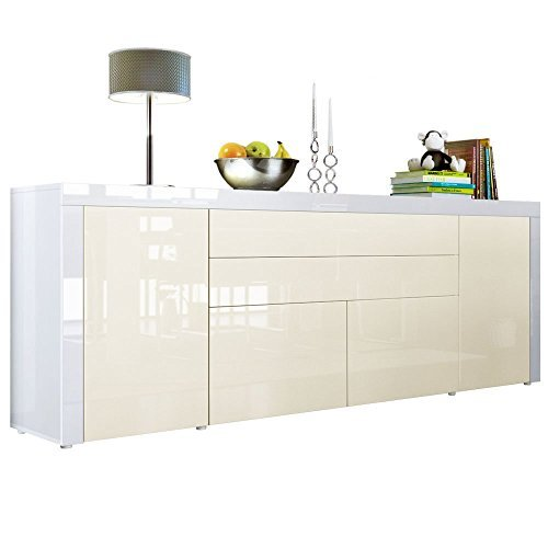 sideboard kommode la paz v2 korpus in wei hochglanz. Black Bedroom Furniture Sets. Home Design Ideas