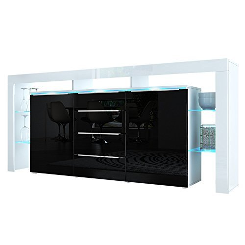 sideboard kommode lima nova korpus in wei matt front. Black Bedroom Furniture Sets. Home Design Ideas