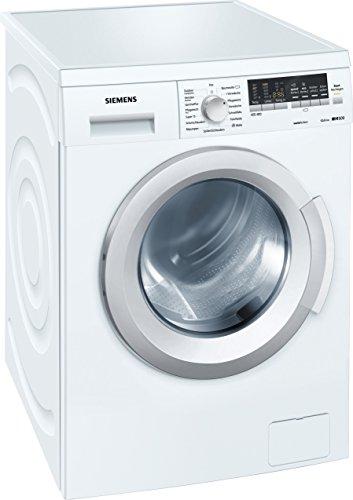 Siemens WM14Q4X2 Waschmaschine FL/A+++/139 kWh/Jahr/1400 UpM/7 kg/9240 l/Jahr/Großes Display mit Endezeitvorwahl/WaterPerfect/weiß