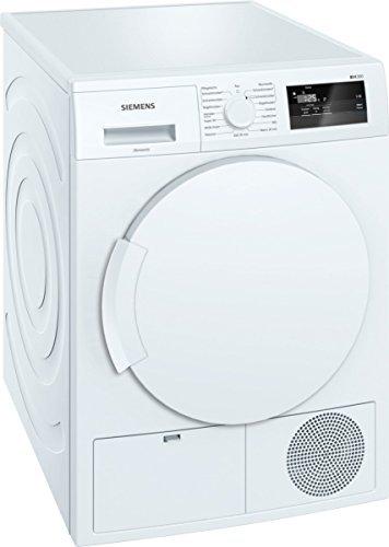 Siemens iQ300 WT43H000 iSensoric Wärmepumpentrockner/A+/7 kg/Weiß/Großes Display mit Endezeitvorwahl/easyClean Filter/Super40