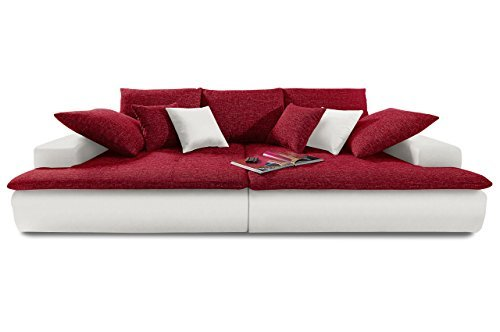 sofa bigsofa haiti xxl kunstleder webstoff weiss rot m bel24 shop. Black Bedroom Furniture Sets. Home Design Ideas