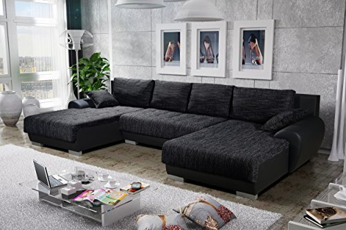 sofa couchgarnitur couch sofagarnitur leon 3 u polstergarnitur polsterecke wohnlandschaft mit. Black Bedroom Furniture Sets. Home Design Ideas