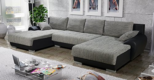 sofa couchgarnitur couch sofagarnitur leon 6 u polstergarnitur polsterecke wohnlandschaft mit. Black Bedroom Furniture Sets. Home Design Ideas