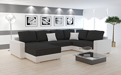polsterecke sofa bono mit schlaffunktion wohnlandschaft schlafsofa schlafcouch kunstleder. Black Bedroom Furniture Sets. Home Design Ideas