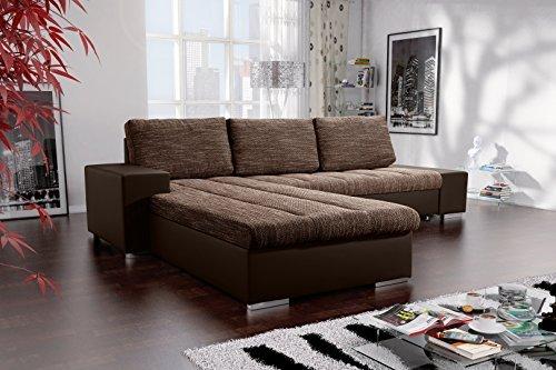 L couch mit schlaffunktion 245x175cm gruen couch mit for Wohnlandschaft l form mit schlaffunktion