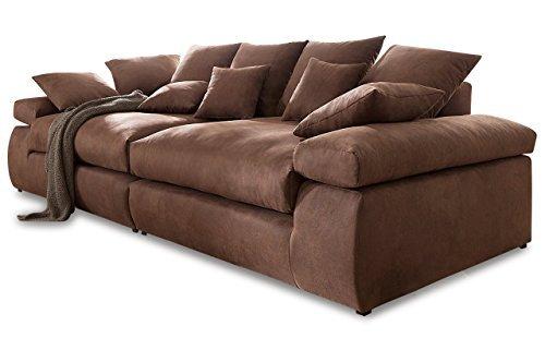 sofa nova via bigsofa cabana braun luxus microfaser mammut m bel24. Black Bedroom Furniture Sets. Home Design Ideas