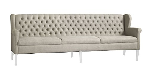 Sofabank Kingston 240 Weiß Massivholz B240 x H92 x T66 cm by Canett