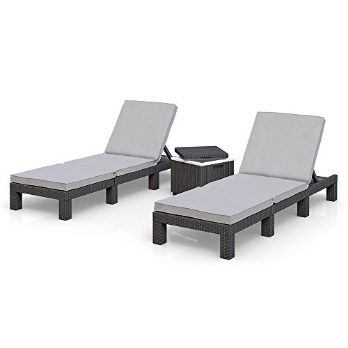 sonnenliege gartenliege 2er set allibert daytona. Black Bedroom Furniture Sets. Home Design Ideas