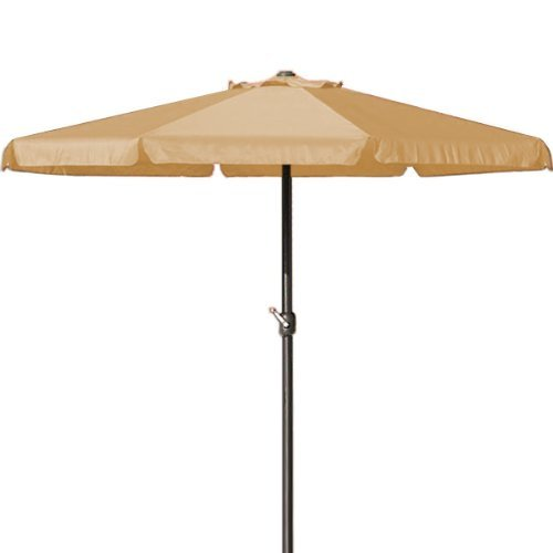 Sonnenschirm 3,5 m mit Kurbel in Beige - Marktschirm Gartenschirm Sonnenschutz