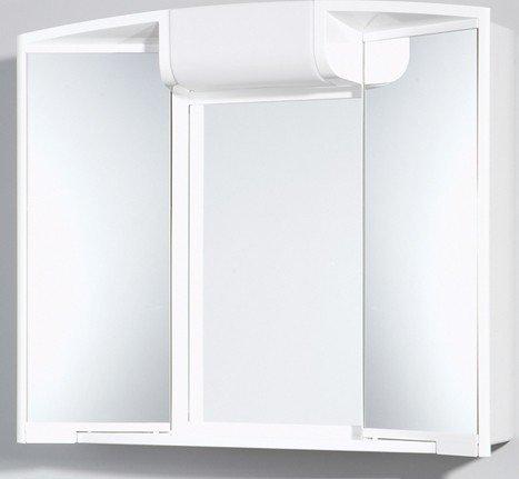 Spiegelschrank ANGY 3D mit Steckdose, weiß