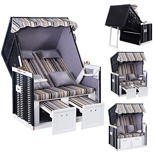strandkorb zweisitzer polyratten nordstrand luxus kissen. Black Bedroom Furniture Sets. Home Design Ideas