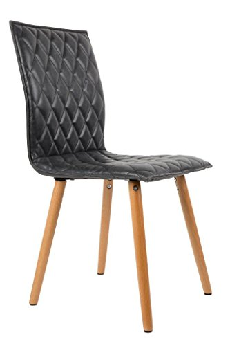 Felis Lifestyle 1100241Andy 2Stück Stühle Kunstleder braun 56x 42x 89cm