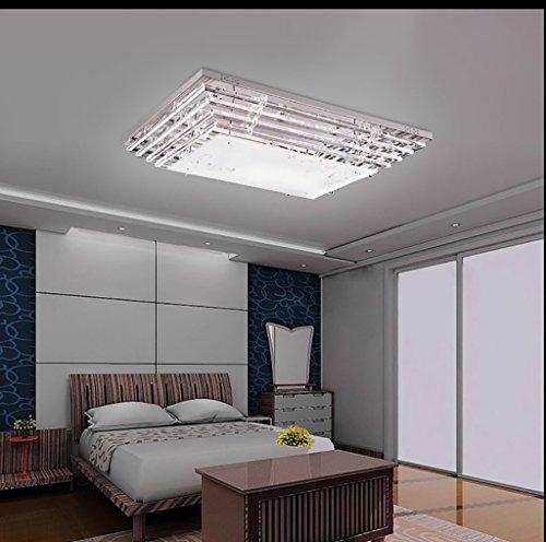 TOYM UK-Atmosphäre rechteckigen Wohnzimmerlampe Kristalllampe Schlafzimmerlampe gemütliches Restaurant eingerichtet Deckenleuchte LED