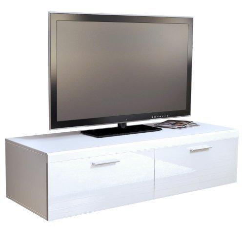 tv board lowboard atlanta korpus in wei matt front in wei hochglanz m bel24. Black Bedroom Furniture Sets. Home Design Ideas