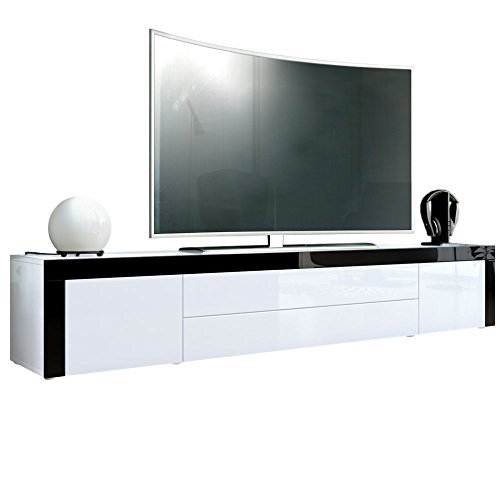 tv board lowboard la paz in wei hochglanz wei. Black Bedroom Furniture Sets. Home Design Ideas