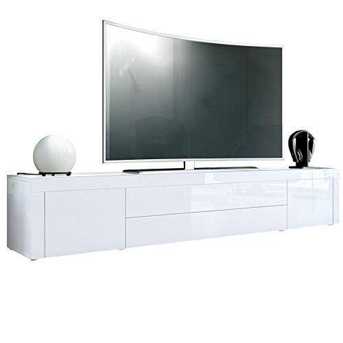 tv board lowboard la paz korpus in wei hochglanz front in wei hochglanz mit rahmen in wei. Black Bedroom Furniture Sets. Home Design Ideas
