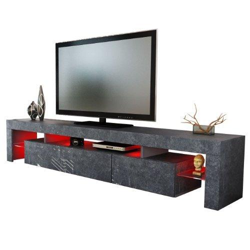 TV Board Lowboard Lima XL Rock in Schieferoptik  MÖBEL24  -> Tv Lowboard Schiefer Optik