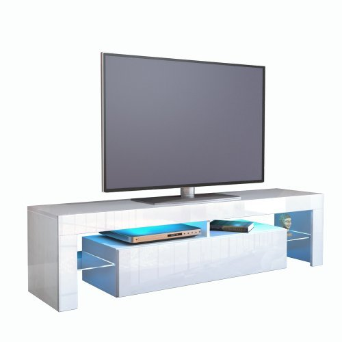 tv schrank lowboard fernsehschrank fernsehtisch wohnzimmer lima korpus in wei front in wei. Black Bedroom Furniture Sets. Home Design Ideas