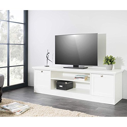 tv board romantica landhaus lowboard in wei 160x48x45cm mit 2 f chern und 2 t ren m bel24. Black Bedroom Furniture Sets. Home Design Ideas