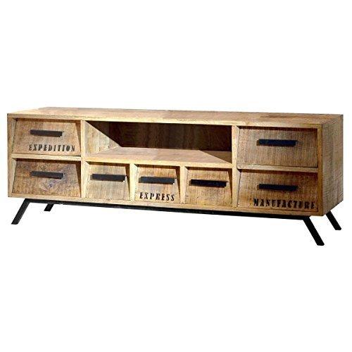 tv board tv bank lowboard romsdal retro look holz massivholz natur breite 150 cm tiefe 40 cm. Black Bedroom Furniture Sets. Home Design Ideas