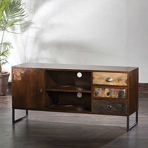 tv board aus mangobaum massivholz loft style pharao24 m bel24 shop. Black Bedroom Furniture Sets. Home Design Ideas