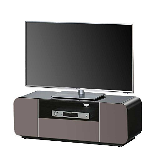 tv board in braun schwarz hochglanz ohne beleuchtung. Black Bedroom Furniture Sets. Home Design Ideas