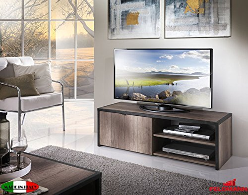 tv element lowboard mit 1 klappe 555007 eiche san remo. Black Bedroom Furniture Sets. Home Design Ideas