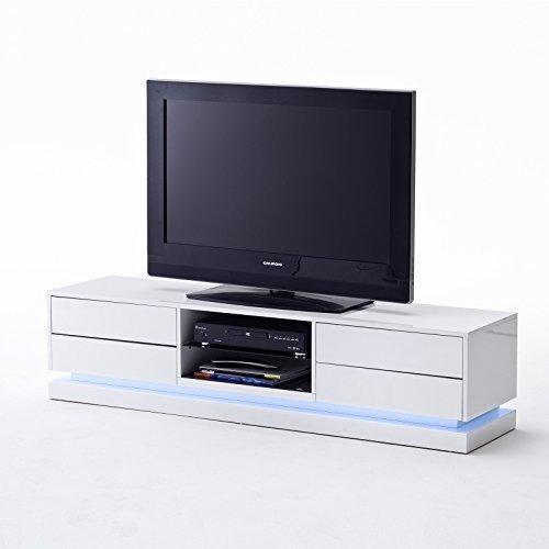 tv lowboard brand m bel media schrank tisch hochglanz lack weiss led beleuchtung m bel24. Black Bedroom Furniture Sets. Home Design Ideas
