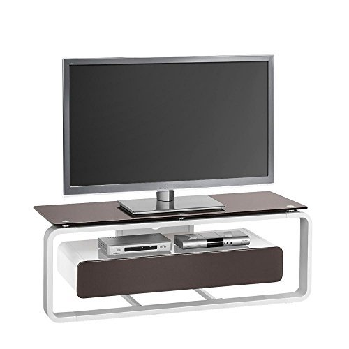 tv lowboard maja m bel graubraun braun grau wei glas holz. Black Bedroom Furniture Sets. Home Design Ideas