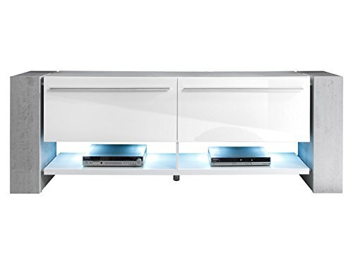 tv lowboard media board rack unterschrank schrank tisch m bel hifi grey ii m bel24. Black Bedroom Furniture Sets. Home Design Ideas