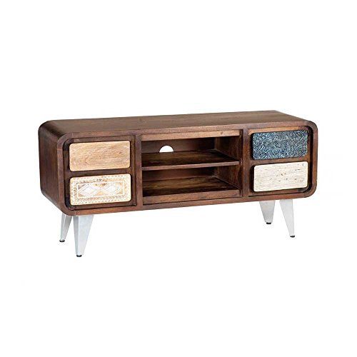 tv lowboard im retro design braun bunt pharao24 0. Black Bedroom Furniture Sets. Home Design Ideas