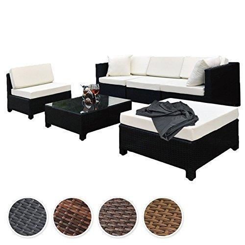 m bel24 m bel g nstig tectake hochwertige aluminium luxus lounge mit 2 bezugssets poly rattan. Black Bedroom Furniture Sets. Home Design Ideas