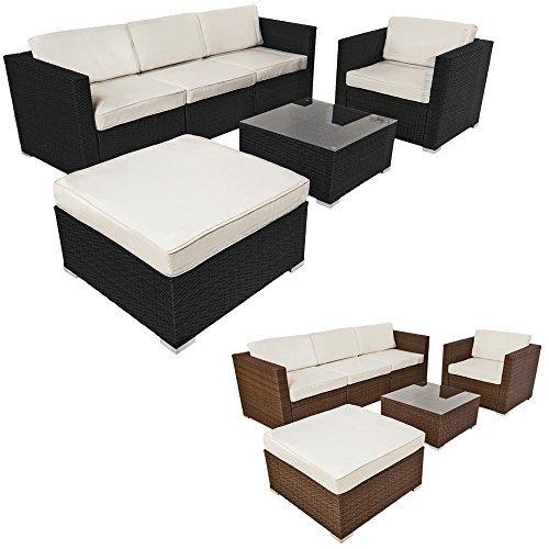 tectake hochwertige luxus lounge poly rattan sitzgruppe sofa rattanm bel gartenm bel diverse. Black Bedroom Furniture Sets. Home Design Ideas