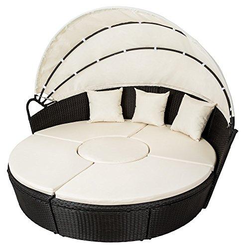 tectake hochwertige xxl aluminium sonneninsel liegeinsel gartenm bel sonnenliege gartenlounge. Black Bedroom Furniture Sets. Home Design Ideas