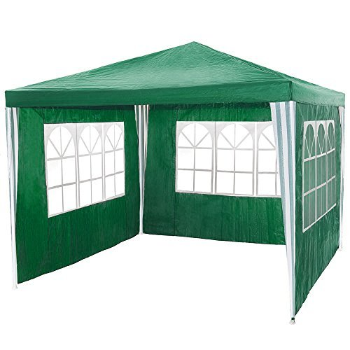 tectake pavillon partyzelt gartenzelt eventpavillon blau 3x3m 3 seitenteile gr n m bel24. Black Bedroom Furniture Sets. Home Design Ideas