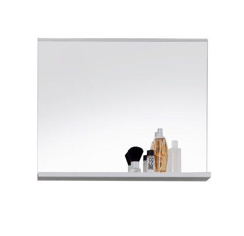 Trendteam 1280-401-01 Badezimmer Wandspiegel Mezzo, 60 x 50 x 10 cm mit Ablage, Weiß
