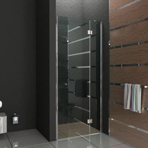 trennwand duschwand dreht r klappbar nischen t r echtglas nische dusche komplett 90 200 cm. Black Bedroom Furniture Sets. Home Design Ideas