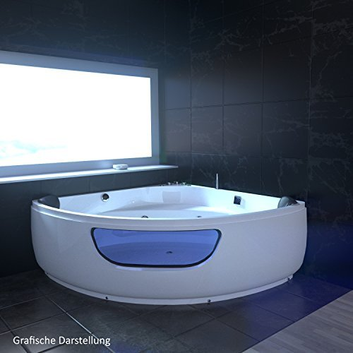 tronitechnik whirlpool badewanne wanne eckwhirlpool spa 2 personen eckwanne 135x135 m bel24. Black Bedroom Furniture Sets. Home Design Ideas