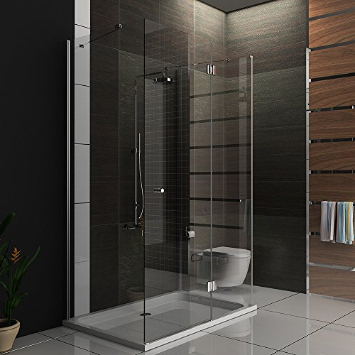 u duschkabine 80x140x195 u form dusche inkl glasveredelung easy clean glas 6 mm. Black Bedroom Furniture Sets. Home Design Ideas