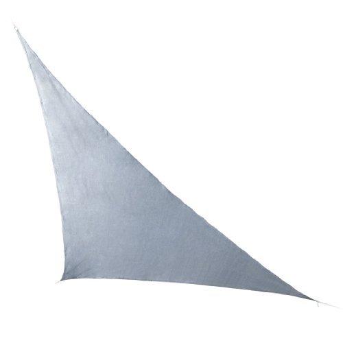 Ultranatura Sonnensegel-Dreieck Ibiza, Sonnensegel dreieckig, Sonnen Segel Silber & Terrakotta, Terrassen Sonnenschutz, Sonnendach Balkon 5 x 5 x 5 m, Silber